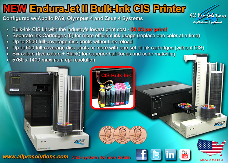 NEW EnduraJet II Bulk-Ink CIS Inkjet Printer